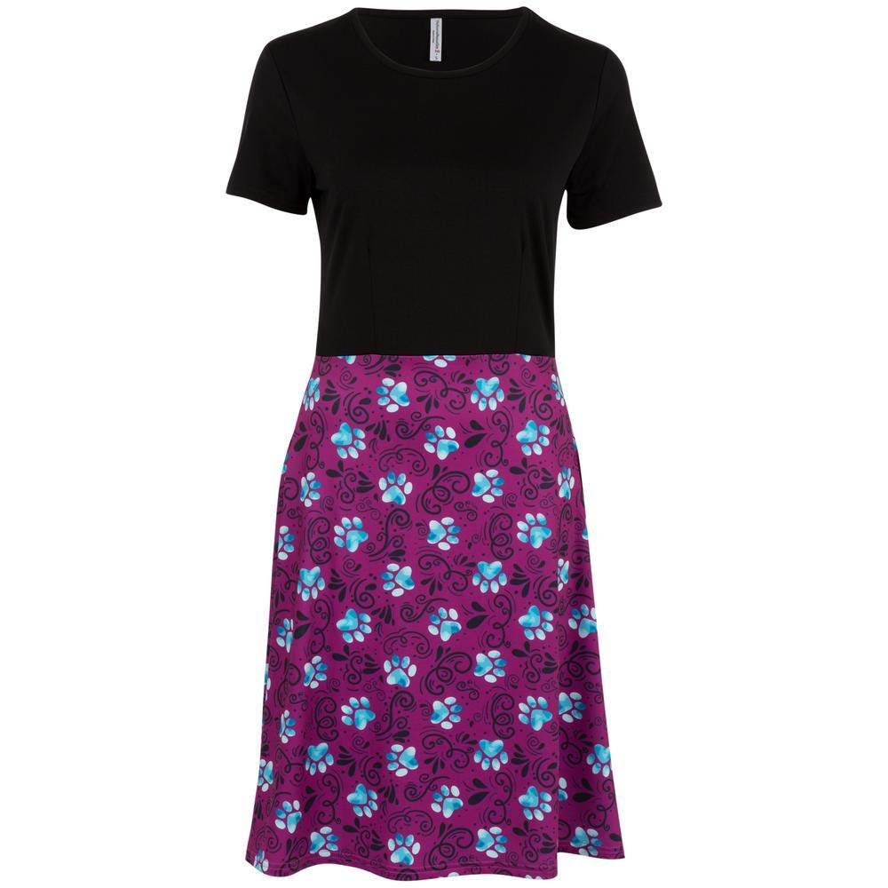 Black Top GreaterGood Paw Print Dress