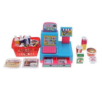 Amazon.es: B Blesiya Juguete de Tienda Conveniente de Simualción con Caja Registradora en Miniatura Juego de Pretender para Niños Bebés: Juguetes y juegos