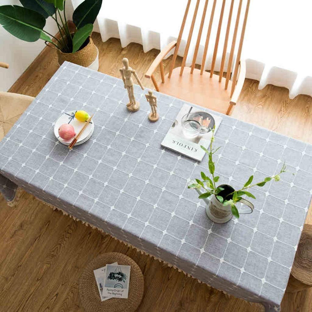 YTJ-JP ジャカードタッセルテーブルクロス、長方形テーブルラウンドテーブルカバー、綿とリネンのテーブルクロス、ダイニングテーブルコーヒーテーブルドレッシングテーブル長方形テーブルラウンドテーブル (Color : A, Size : 100 × 160cm) 100 × 160cm A B07SMRS4L3