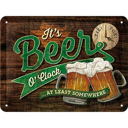 Amazon.com: Nostalgic-Art 26214 Open Bar – Beer O Clock ...