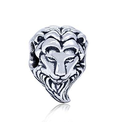 51ba5c584 Lion King 925 Sterling Silver Bead Fits Pandora Charm Bracelet:  Amazon.co.uk: Jewellery
