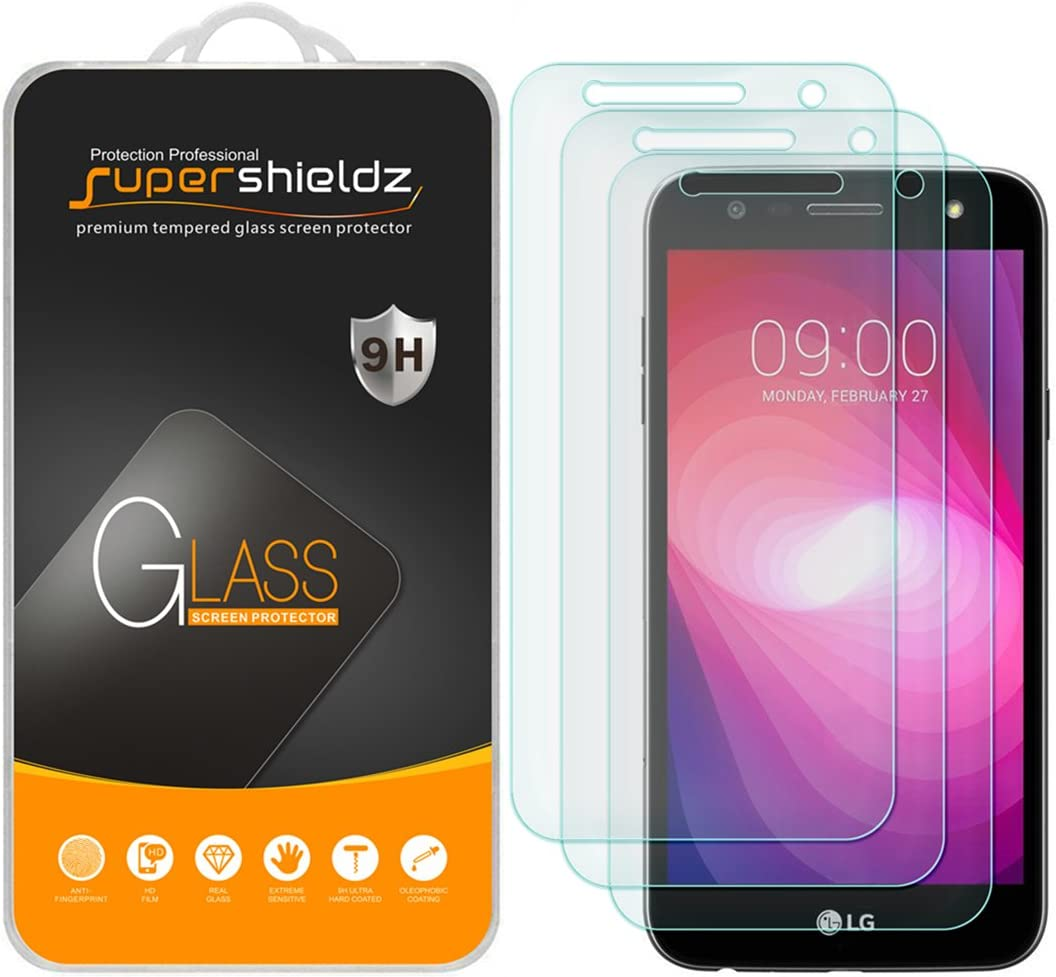 (3 Pack) Supershieldz for LG X Charge Tempered Glass Screen Protector, Anti Scratch, Bubble Free