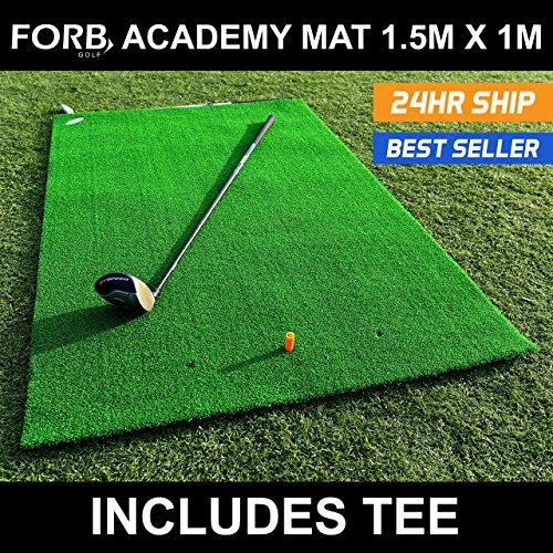 FORB Academy Golf Practice Mat - Portable Golf Driving Range Mat - [Net...