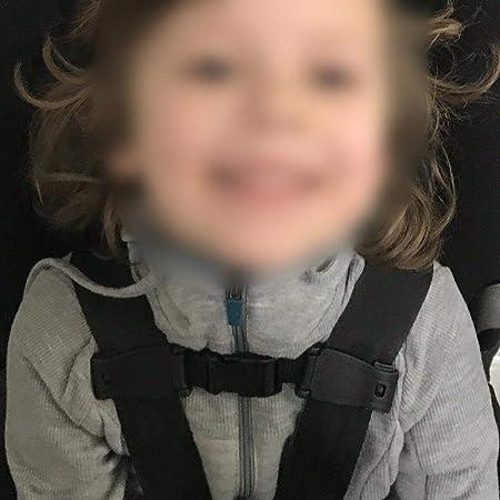 Durable Coche negro Correa de asiento de seguridad para beb/és Arn/és de cintur/ón Cofre Clip para ni/ños Hebilla segura 1 pieza
