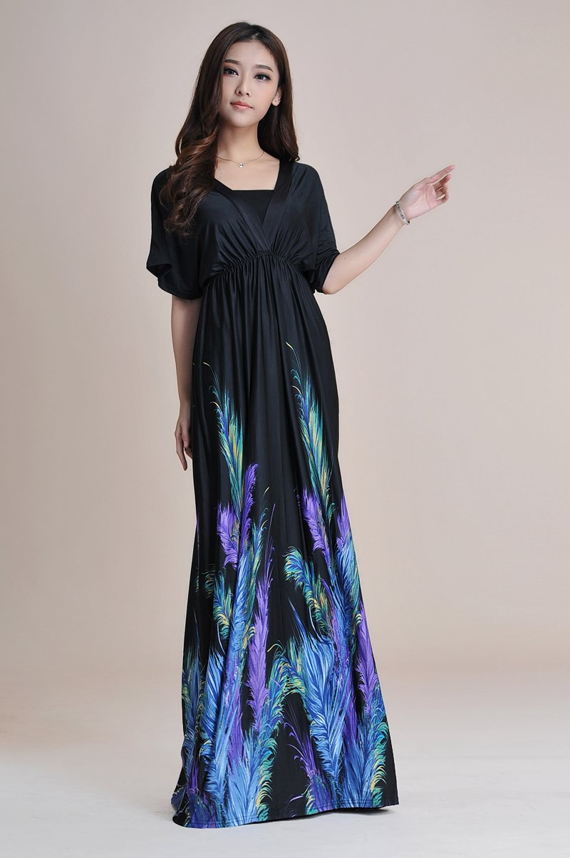 Amazon.com : Women Plus Size Floral Maxi Bohemian Beach