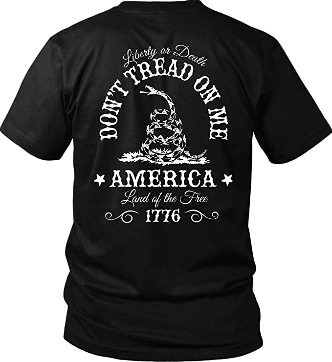 Don't Tread On Me. Liberty Or Death. Gildan T Shirt by Sons Of Liberty