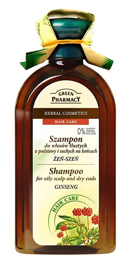 Green Pharmacy hierbas Champú Ginseng fettiges pelo 0% parabenen 350 ml