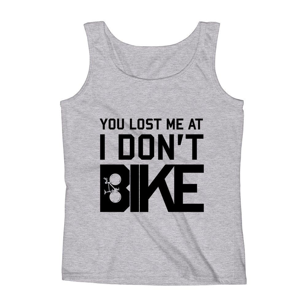 Mad Over Shirts You Lost Me At I Dont Like Bike Unisex Premium Tank Top