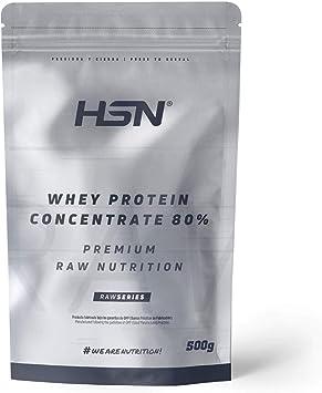 Concentrado de Proteína de Suero de HSN   Whey Protein Concentrate 2.0   Batido de Proteínas en Polvo   Vegetariano, Sin Gluten, Sin Soja, Sin Sabor   ...