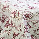 Elegance Vintage Pink Antique Rose Quilt Bedding Sets, 3-piece - King by Cozy Line Home Fashions