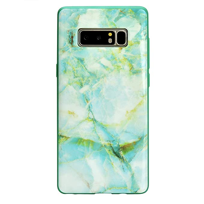 e19f7ad21146 Image Unavailable. Image not available for. Color: Green Marble Galaxy Note  8 Case - Cute Premium Protective Phone Cases for Girls Women [