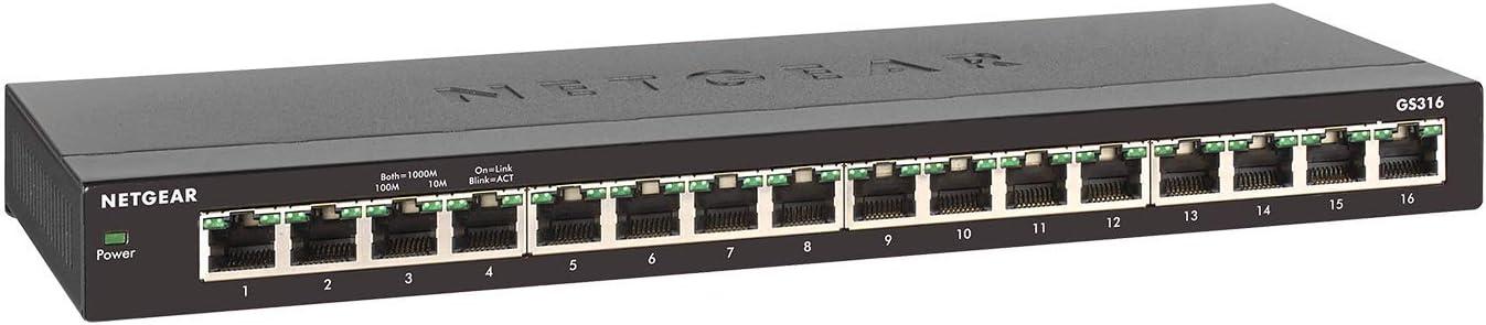 GS316-100PES Netgear 16-PORT GB UNMANAGED SWITCH