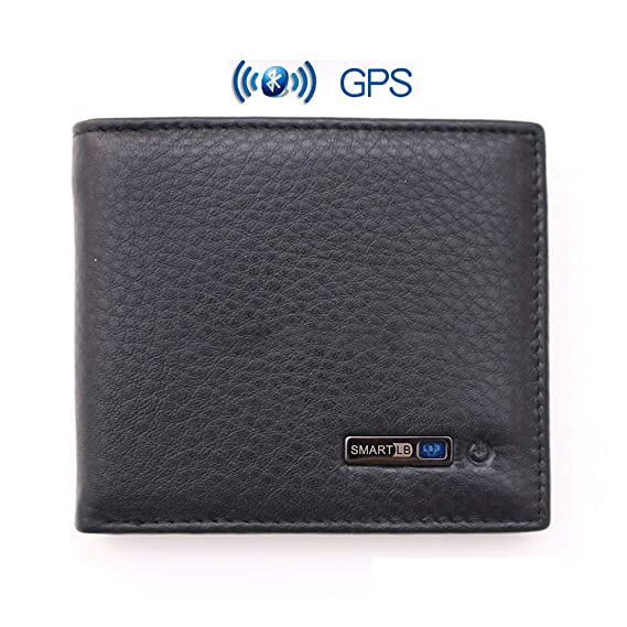 Mens Smart Bluetooth Wallet Anti-lost Phone Searching Function Bifold Multi Card Slots Soft Genuine Leather Wallet: Amazon.es: Equipaje