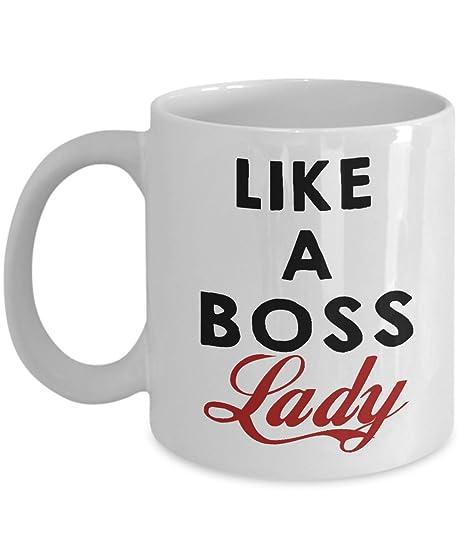 Amazon Com Boss Mug Boss Gift Like A Boss Lady Funny