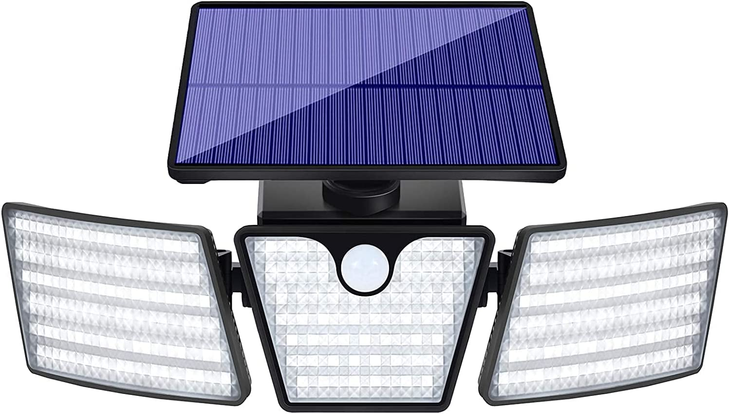 Labensanwa Security Solar Lights Outdoor Motion Sensor, 265 LED 2400LM 6500K Waterproof Outdoor Spotlights, 3 Head 360° Adjustable Flood Lights for Wall Porch Garden Patio Yard Garage Pathway