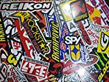 50 Pcs of Sponsor Stickers for Car Racing Vintage Decal and Rare Original Motocross Motorcycle Sticker