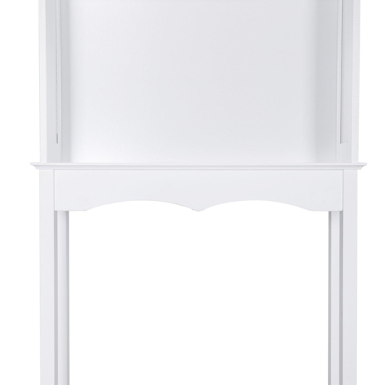 Kinbor 3 Shelf Over The Toilet Bathroom Space Saver, Cottage Collection Bathroom Spacesaver, White by Kinbor (Image #9)