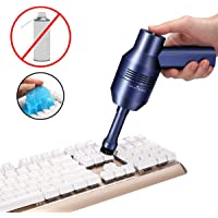 [2019 upgraded] MECO Keyboard Cleaner with Cleaning Gel, Rechargeable Mini Vacuum Cordless Vacuum Desk Vacuum Cleaner, Best Cleaner for Cleaning Dust,Hairs,Crumbs,Scraps for Laptop,Piano,Computer,Car