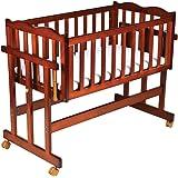 Luvlap C-30M Baby Multipurpose Wooden Cot with Mattress - Medium (Cherry Red)
