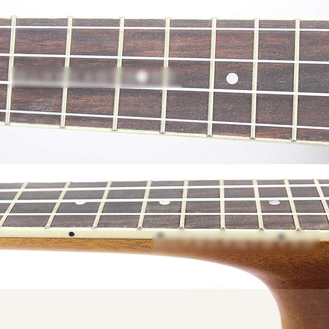 Dhrfyktu ukelele de 53 cm tallado hawaiano con cuatro cuerdas para ...