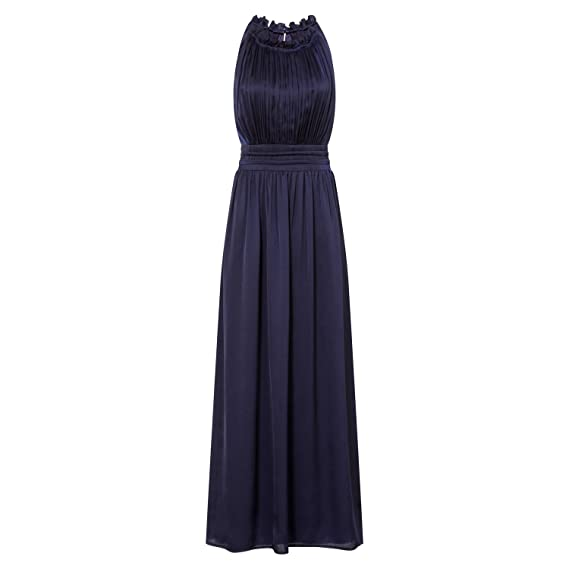 Little Mistress Womens/Ladies Frill Halter Neck Maxi Dress (14) (Navy)