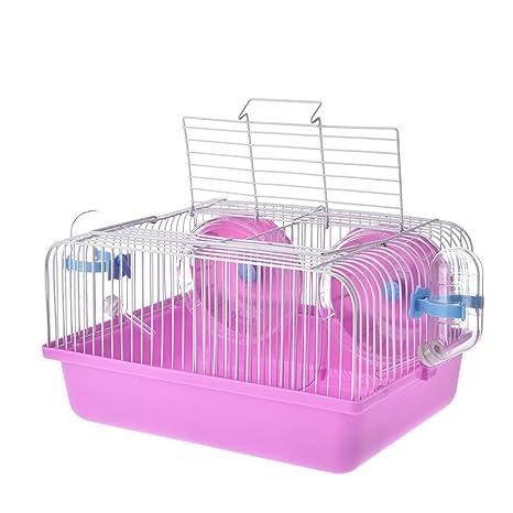 jannyshop jaula para hamsters jaula portátil de pareja Hamsters ...
