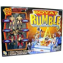 Jakks Wwf Royal Rumble Action Ring And Figures: Bristish Bulldog, Wildman Marc Mero, Road Warrior Animal, Paul Bearer, Jerry Lawler By Jakks Pacific