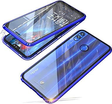 Funda Magnética para Huawei P Smart 2019 /Honor 10 Lite Concha Estuche Ultra Delgado 360 Grados de Protección Caja Cubierta Trasera de Transparente Vidrio Templado Case Marco Metálico Carcasa Cover: Amazon.es: Electrónica