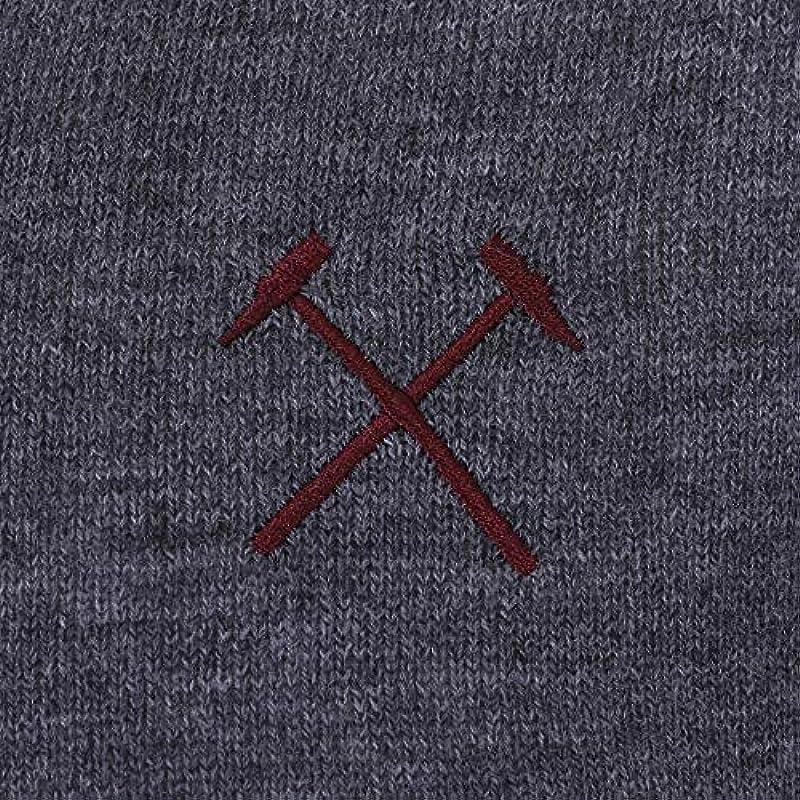 West Ham United FC – męski do robienia na drutach-sweter z dekoltem w serek – oficjalny Merchandise – prezent dla fanÓw piłki nożnej: Odzież