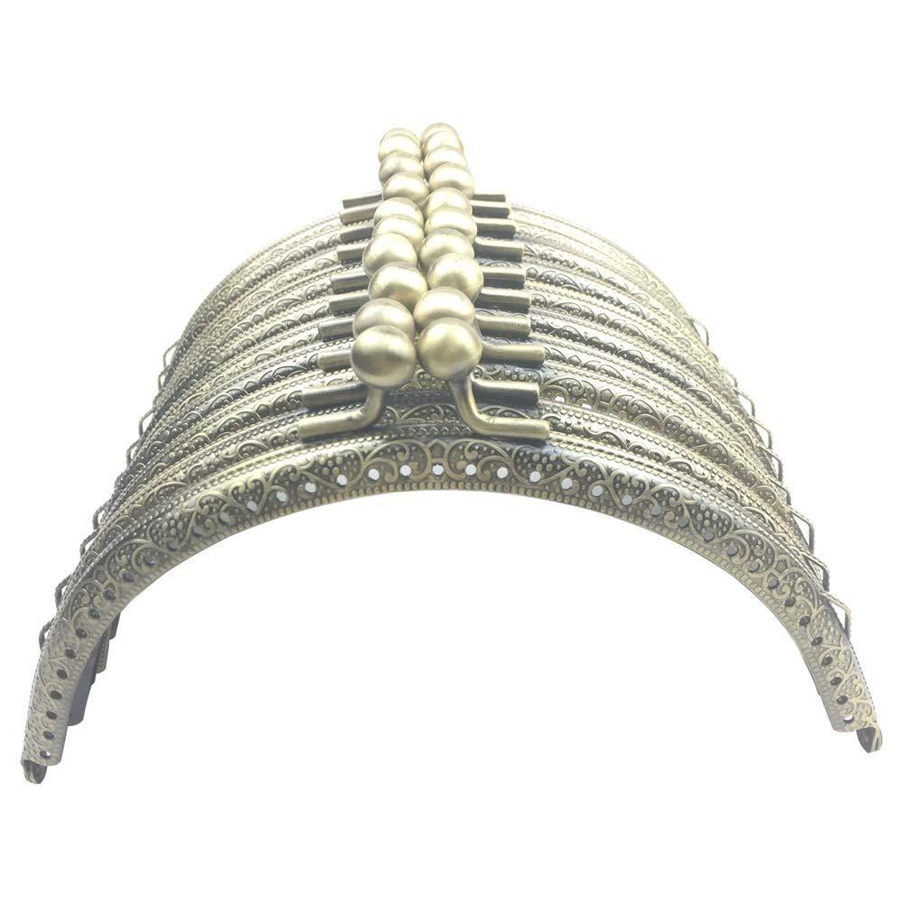 GuoFa 10PCS Metal Purse Frame 5.9''/15CM for Clutch Handbag Accessories Handle Bags Hardware Making Kiss Clasp Lock for Women Girls Antique Bronze Tone Arch