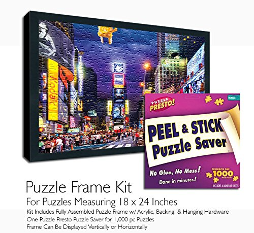 Jigsaw Puzzle Frame Kit - Made to Display Puzzles Measuring 18x24 ()
