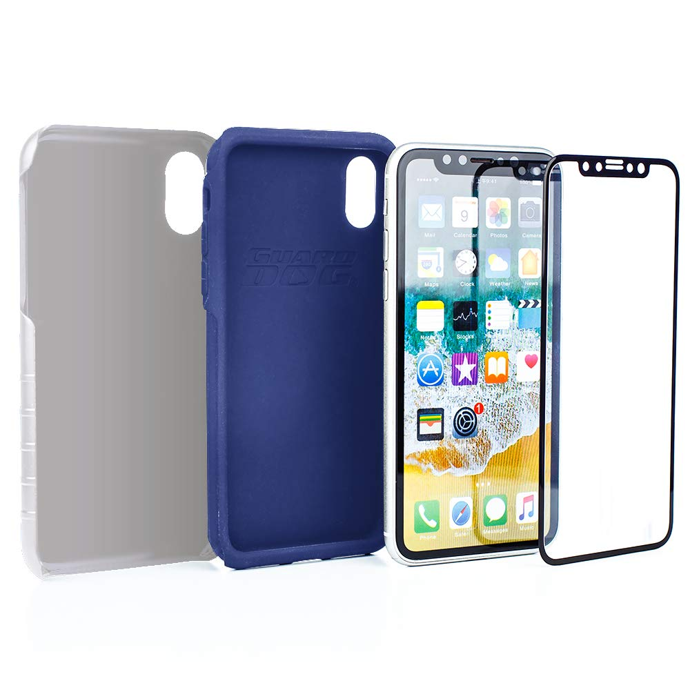 Hybrid Case for iPhone XR with Guard Glass Screen Protector White