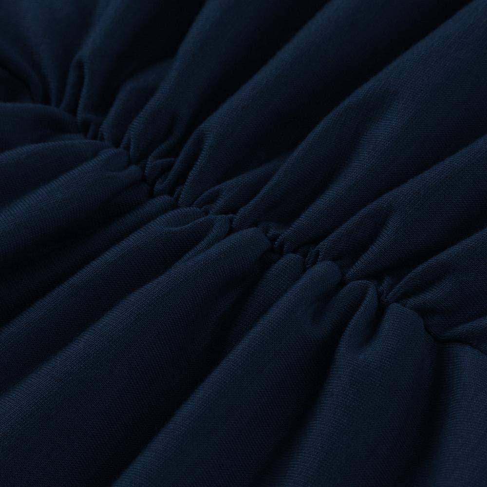 Doublehero Damen Langarm Umstandskleid Elegant Herbst Winter Elastisch Plissee Stillkleid Umstandsmode Stillnachthemd Frauen Solide Schwangerschaft Kleid