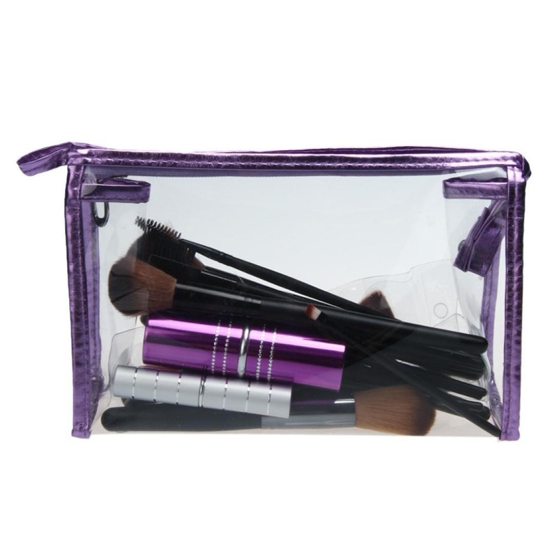 Bolsas de aseo,Sannysis Impermeable Bolsas de maquillaje de almacenamiento,Bolsa de aseo transparente, Bolsa de viaje capacidad, neceser transparente para cosmetica (A)