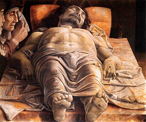 Quality Prints - Laminated 16x14 Vibrant Durable Photo Poster - EL MUSEO DE HIPATIA Andrea MANTEGNA The Lamentation Over The Dead Christ 1490 (Andrea Mantegna The Lamentation Over The Dead Christ)