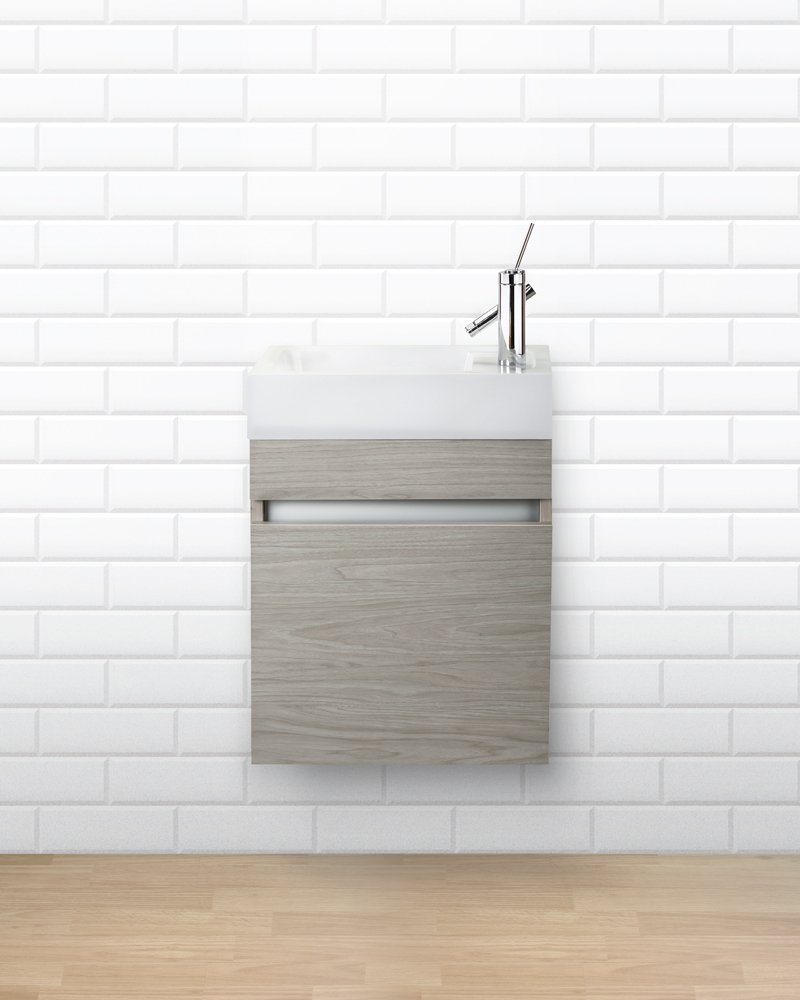 Cutler Kitchen & Bath FVPICCWKND18 Sangallo 18 in. Space Saver Bathroom Vanity, 18 inch, White - Includes cabinet Select from available finishes Wood construction - bathroom-vanities, bathroom-fixtures-hardware, bathroom - 61zp8La9zVL -