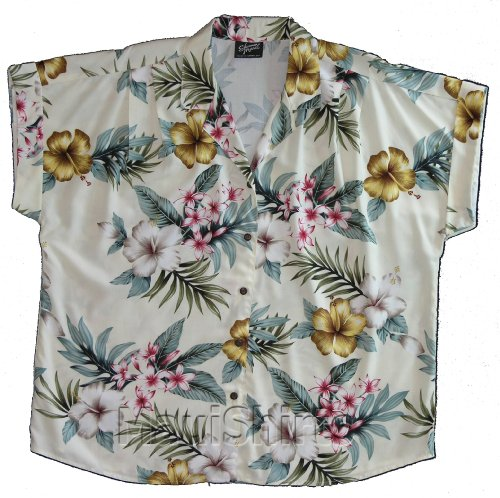 Robert J Clancey RJC Mens Plumeria Shores Rayon Hawaiian Shirt