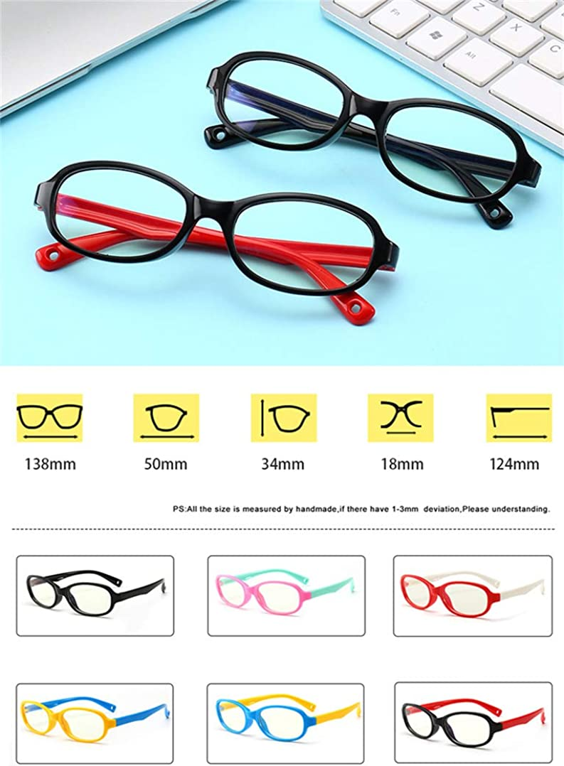 Kids Computer Glasses Anti-Glare UV Protection Classic Non-Prescription Clear Lenses Glasses