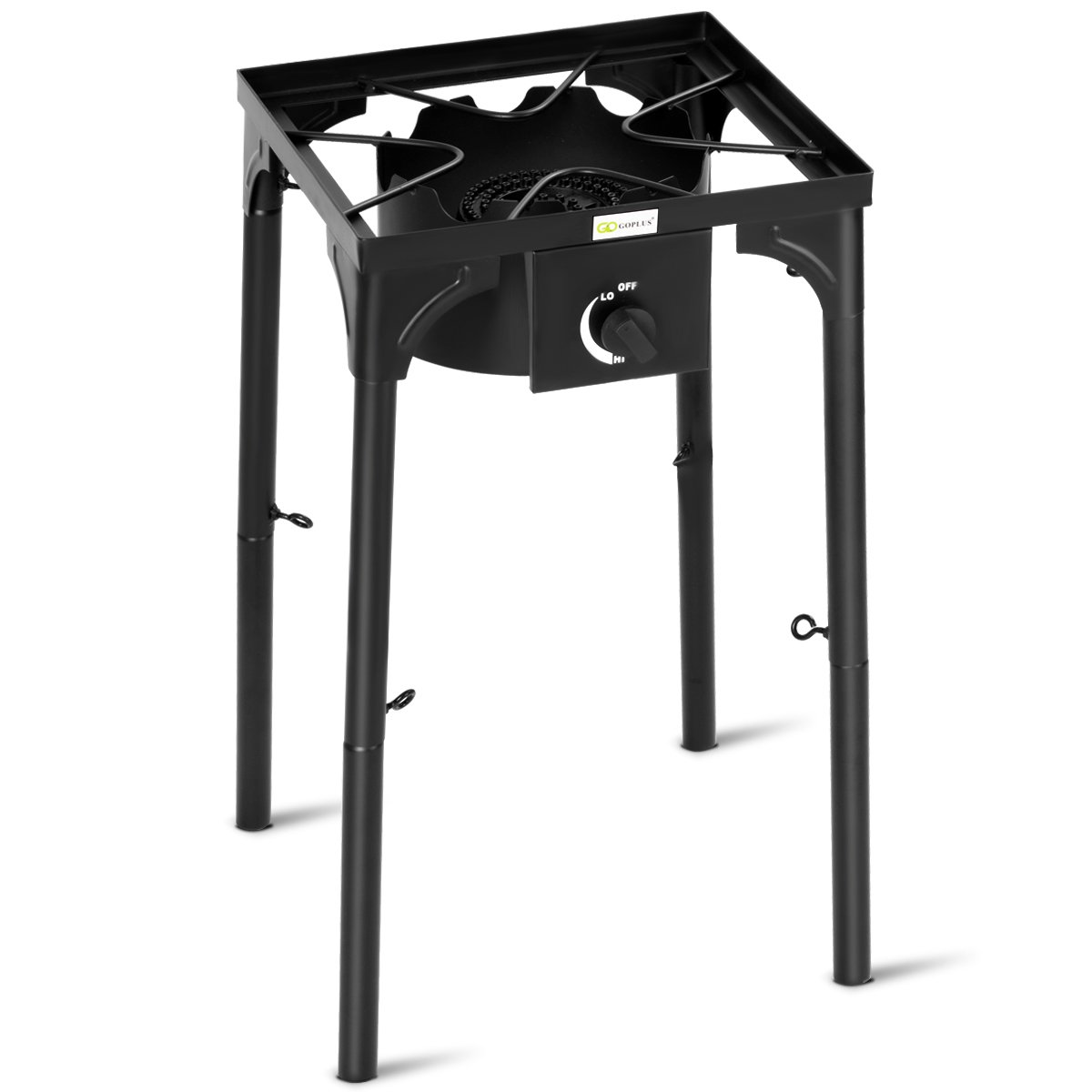 GYMAX Outdoor Stove, Single Burner High Pressure Propane Gas Camp Stove with Detachable Legs, Perfect for Camping Patio, 100,000-BTU