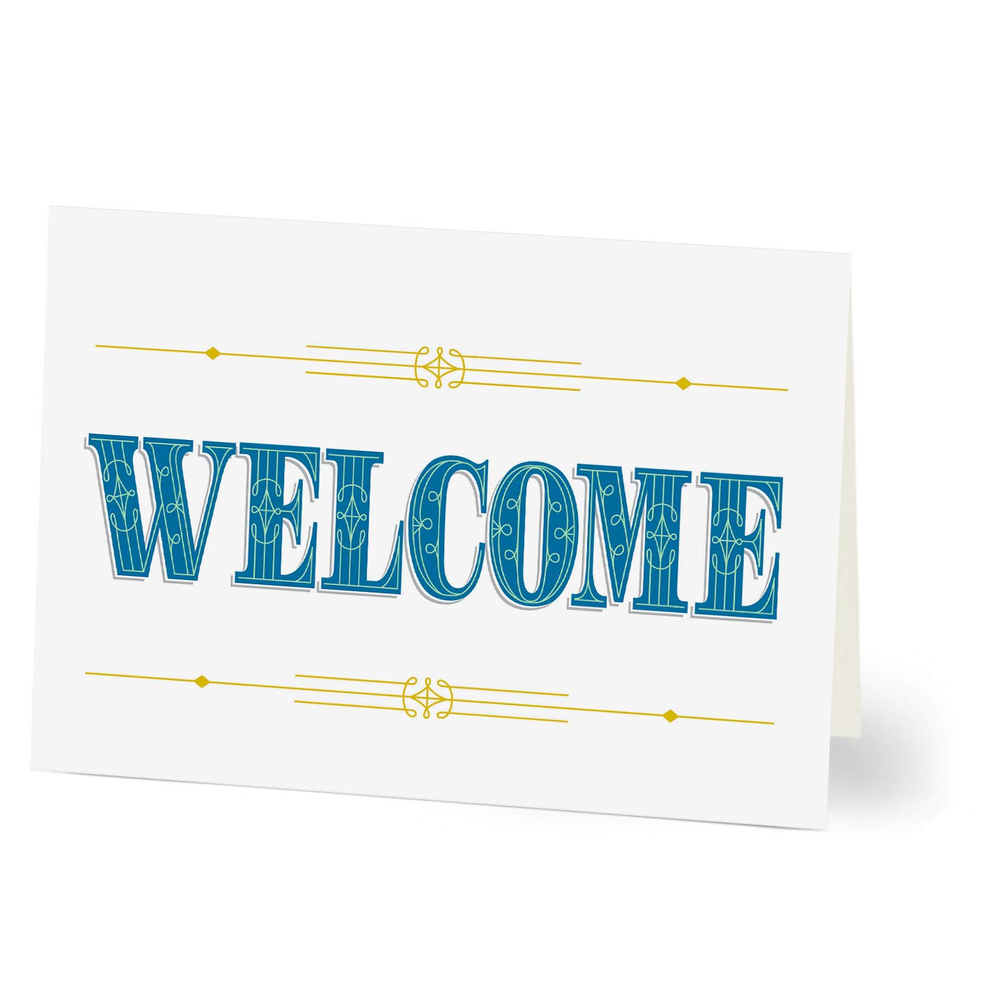 Hallmark Customer Welcome Cards (Regal Welcome Customer) (Pack of 25 Greeting Cards for Business)