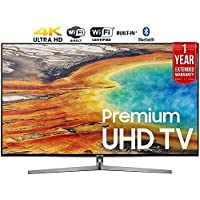 Samsung UN55MU9000 55-Inch 4K Ultra HD Smart LED TV (2017 Model) + 1 Year Extended Warranty (Certified Refurbished)