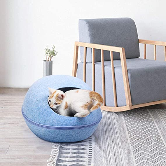 Jiyaru Cueva de Cama para Mascotas Suave Casa de Gato Cama para Gato Perros Mascotas 47.5 * 38 * 26 cm: Amazon.es: Productos para mascotas