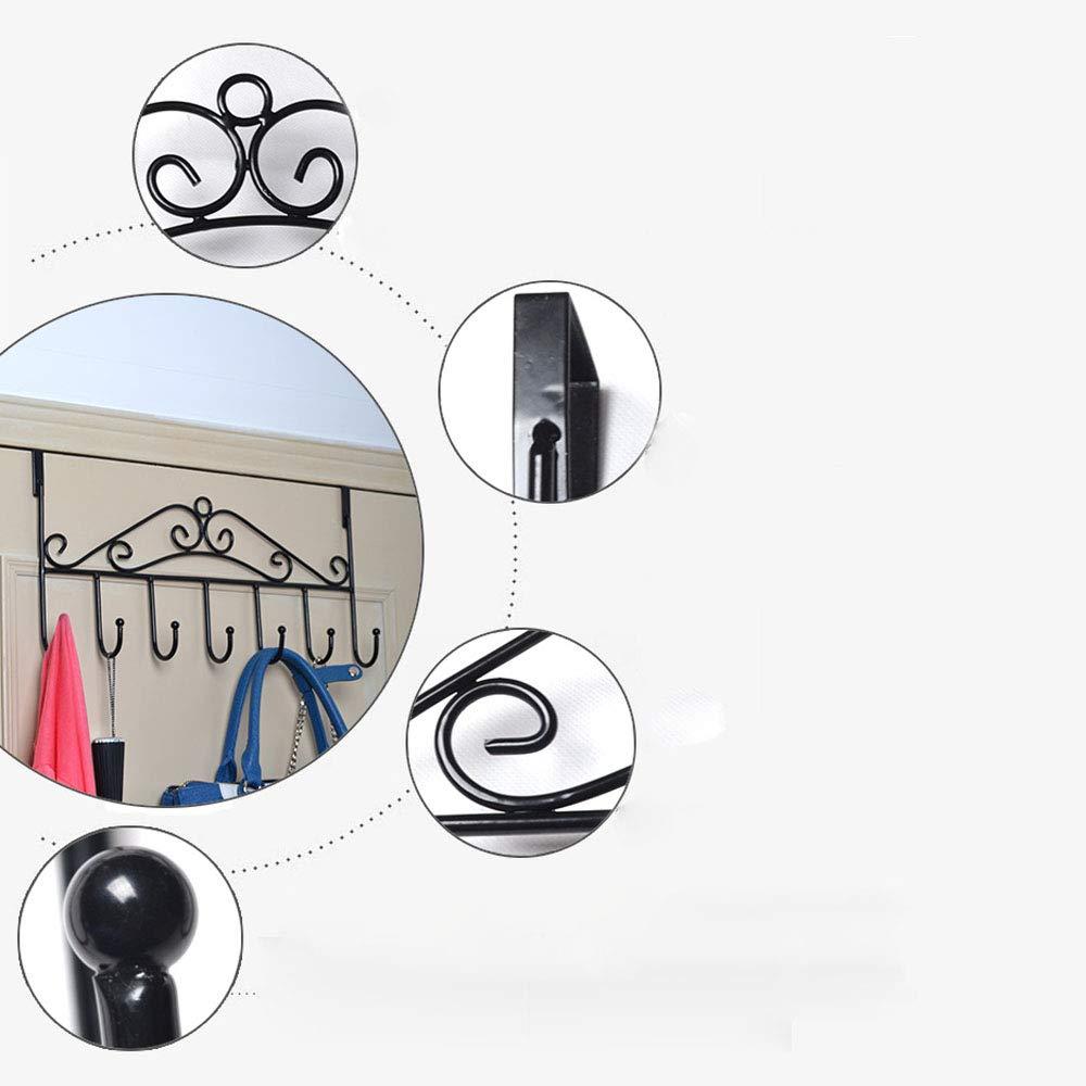 Abnehmbar Kleiderhaken ohne Bohren Kitchen-dream T/ürh/ängeleiste T/ürgarderobe Vintage Gardaroben Hakenleiste 5 Haken f/ür Tasche Kleidung M/äntel Handt/ücher