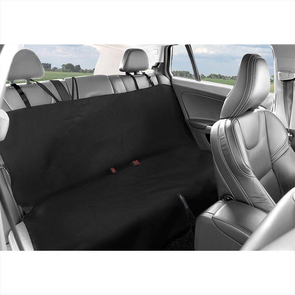 Sitzbezug für den Rücksitz schwarz Rücksitzbezug mit Aussparung für Reissverschluss im Mittelteil zwischen Lehne & Rücksitz für den Gurt