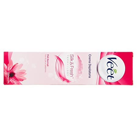 Amazon.com: depilatory cream Silk&Fresh Normal Skin 200 ml by Veet: Health & Personal Care