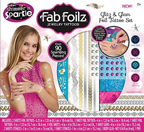 Cra-Z-Art Fab Foilz Jewelry Glitz N Glam Foil Tattoo Set Box