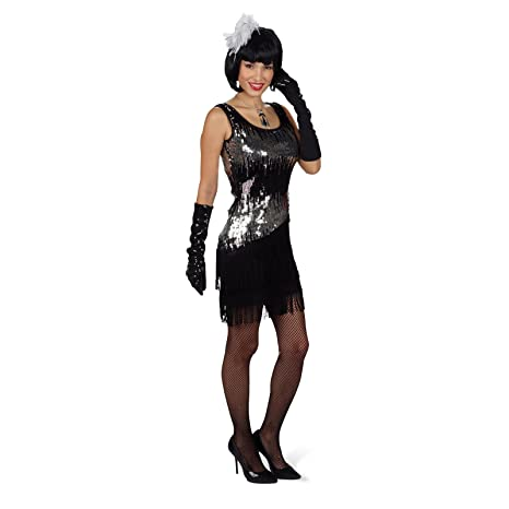 Disfraz de charlestón sexy Liza - minivestido de fiesta con ...