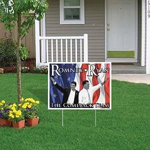 "Romney Ryan 2012señal/imán Combo 18""x24"" # 4Yard Sign con estacas y # 5–carcasa imán"