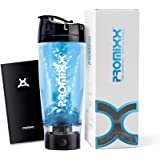 PROMiXX (2018 Model) - The Original Vortex Mixer | Beautifully Engineered High-torque Battery-powered Protein Shaker Bottle With X-blade Technology | 600ml / 20oz (Black)
