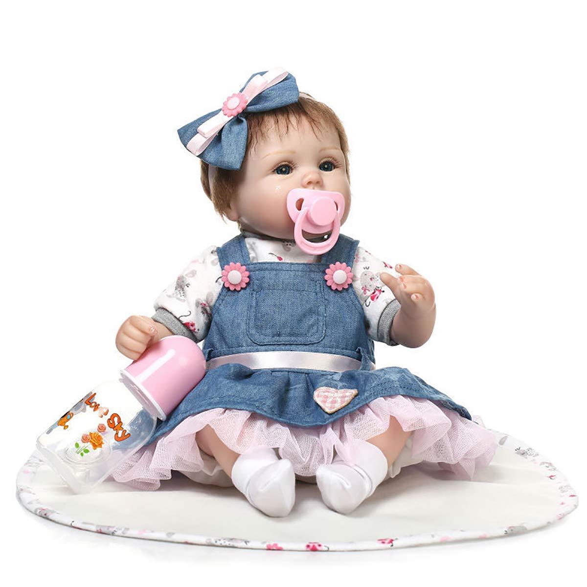 tiendas minoristas LHKAVE Reborn Baby Dolls 16 16 16 Pulgadas, Calidad Realista Hechos a Mano bebés muñecos niñas Vinilo Suave Silicona Realista Niños Regalos Juguetes Edad 3+  ventas en linea